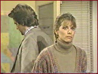 Кадр из сериала Санта-Барбара, Лэйн Дэвис и Нэнси Ли Гран в роли Мэйсона и Джулии